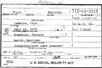 Frank Spellman Social Security application, 1937
